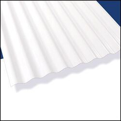 Palruf 26 in. W x 144 in. L PVC Roof Panel White Opaque