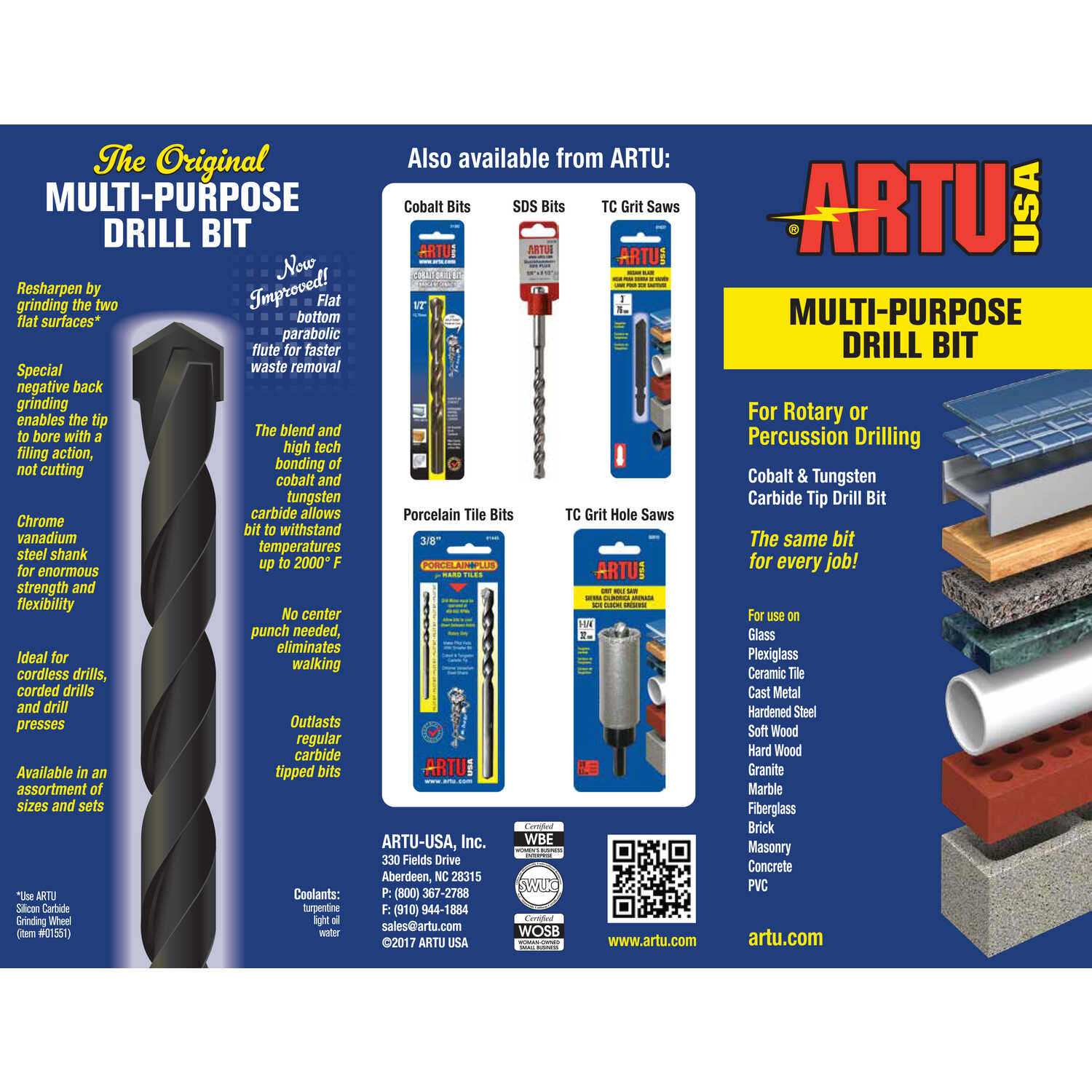 ARTU  5/32 in.  x 5-1/2 in. L Tungsten Carbide Tipped  Concrete Screw Bit  1 pc.