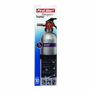 First Alert  Designer  2-1/2 lb. Fire Extinguisher  For Household OSHA/US Coast Guard Agency Approva