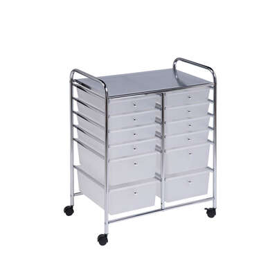 Honey Can Do  29 in. H x 15-1/4 in. W x 23-1/4 in. D Storage Cart