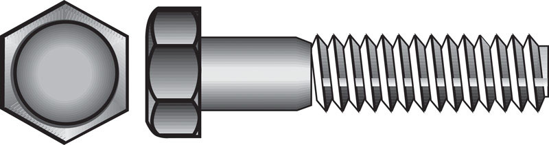 HILLMAN  5/16 in. Dia. x 2 in. L Zinc Plated  Steel  Hex Bolt  100 box