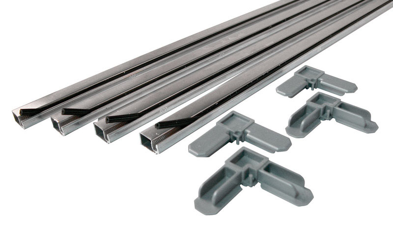 Prime-Line  Aluminum  3/4 in. W x 3/4 in. L Screen Frame Kit  9 pk