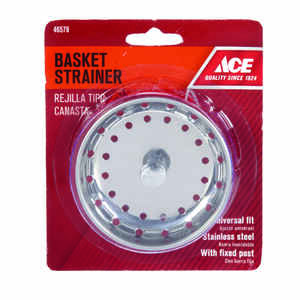Ace  universal in. Dia. Stainless Steel  Replacement Strainer Basket