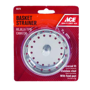 Ace  universal in. Dia. Replacement Strainer Basket  Chrome