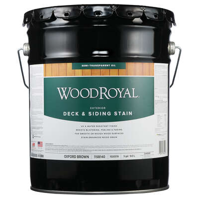 Ace Wood Royal Semi-Transparent Oxford Brown Deck and Siding Stain 5 gal.
