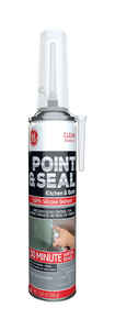 GE  Point and Seal  Clear  Silicone 2  Kitchen and Bath  Silicone  7.25 oz.