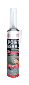 GE  Point and Seal  Silicone 2  Sealant  7.25 oz. Clear