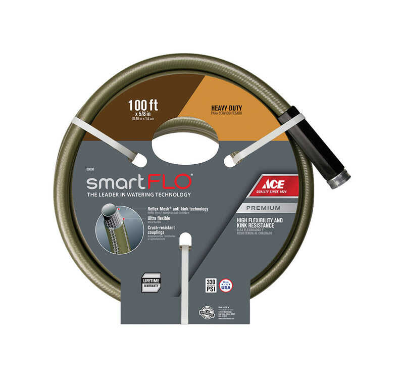Ace  SmartFLO  5/8 in. Dia. x 100 ft. L Heavy Duty  Garden Hose