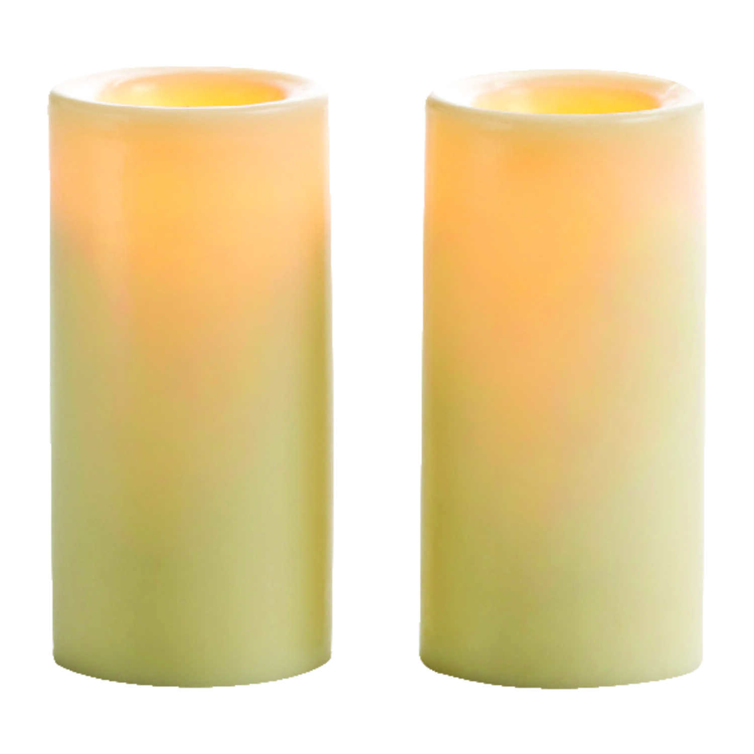 Sterno  Butter Cream  Pillar  Candle  5.3 in. H