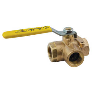 Apollo  Ball  1 in. FPT   x 1 in. Dia. FPT  Brass  3-Way Ball Valve