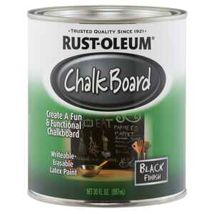 Rust-Oleum  Black  Chalkboard Paint  30 oz.