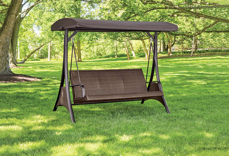 Living Accents  3-Seat  Steel  3  Swing