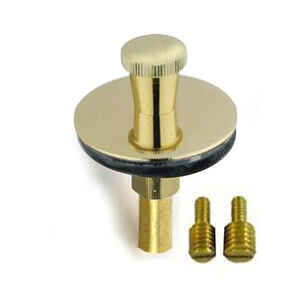 PF WaterWorks  NA  Dia. Lift N Lock Tub Drain Stopper  Polished  Brass