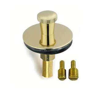 PF WaterWorks  NA  Dia. Lift N Lock Tub Drain Stopper  Polished Brass  Brass