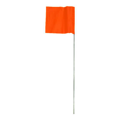 C.H. Hanson  21 in. Orange  Marking Flags  Polyvinyl  100 pk