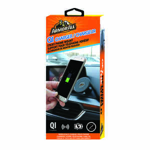 Armor All  Black  Qi Charger  1 pk