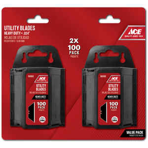 Ace  Carbon Steel  Heavy Duty  Replacement Blade  200 pk