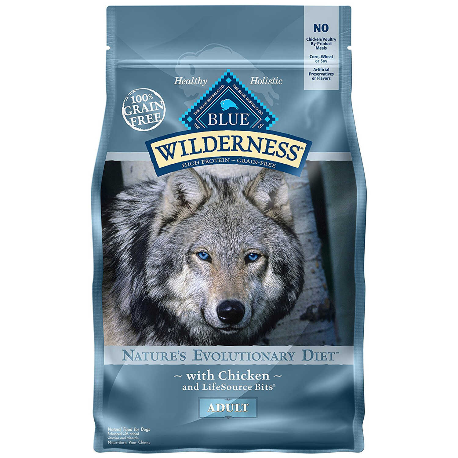 Blue Buffalo  Blue Wilderness  Chicken  Dog  Food  Grain Free 4.5