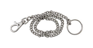 Hy-Ko  2GO  1-1/8 in. Dia. Nickel-Plated Steel  Silver  Snap Hook  Key Chain