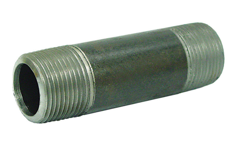 Ace  1/2 in. MPT   x 1/2 in. Dia. x 9 in. L MPT  Galvanized  Steel  Pipe Nipple
