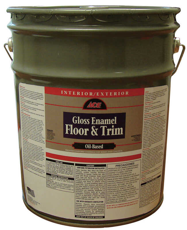 Ace  Gloss Enamel Floor & Trim  Gloss  Gloss  Enamel Floor and Trim Paint  5 gal. White