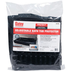 Oatey  2  H x 15  W x 15  L Black  Adjustable Bathtub Protector