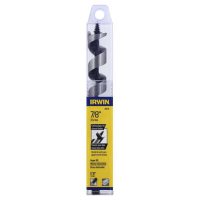 Irwin 7/8 in. Dia. x 7.5 in. L Auger Bit Carbon Steel 1 pc.