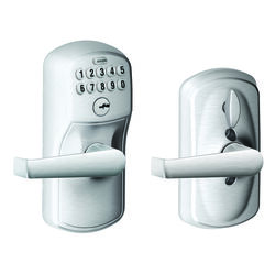 Schlage  Satin Chrome  Steel  Electronic Keypad Entry Lock