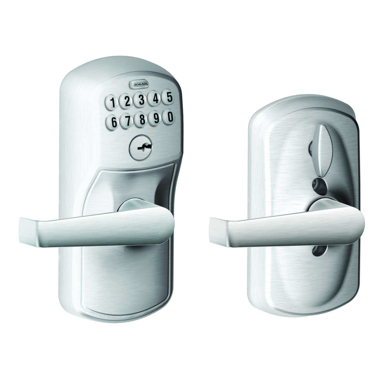 Schlage  Satin Nickel  Steel  Electronic Keypad Entry Lock