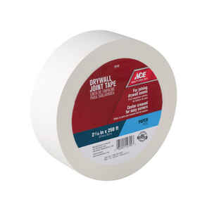 Ace  250 ft. L x 2.06 in. W x 250 ft. L x 2-1/16 in. W Paper  Self Adhesive Drywall Joint Tape  Whit