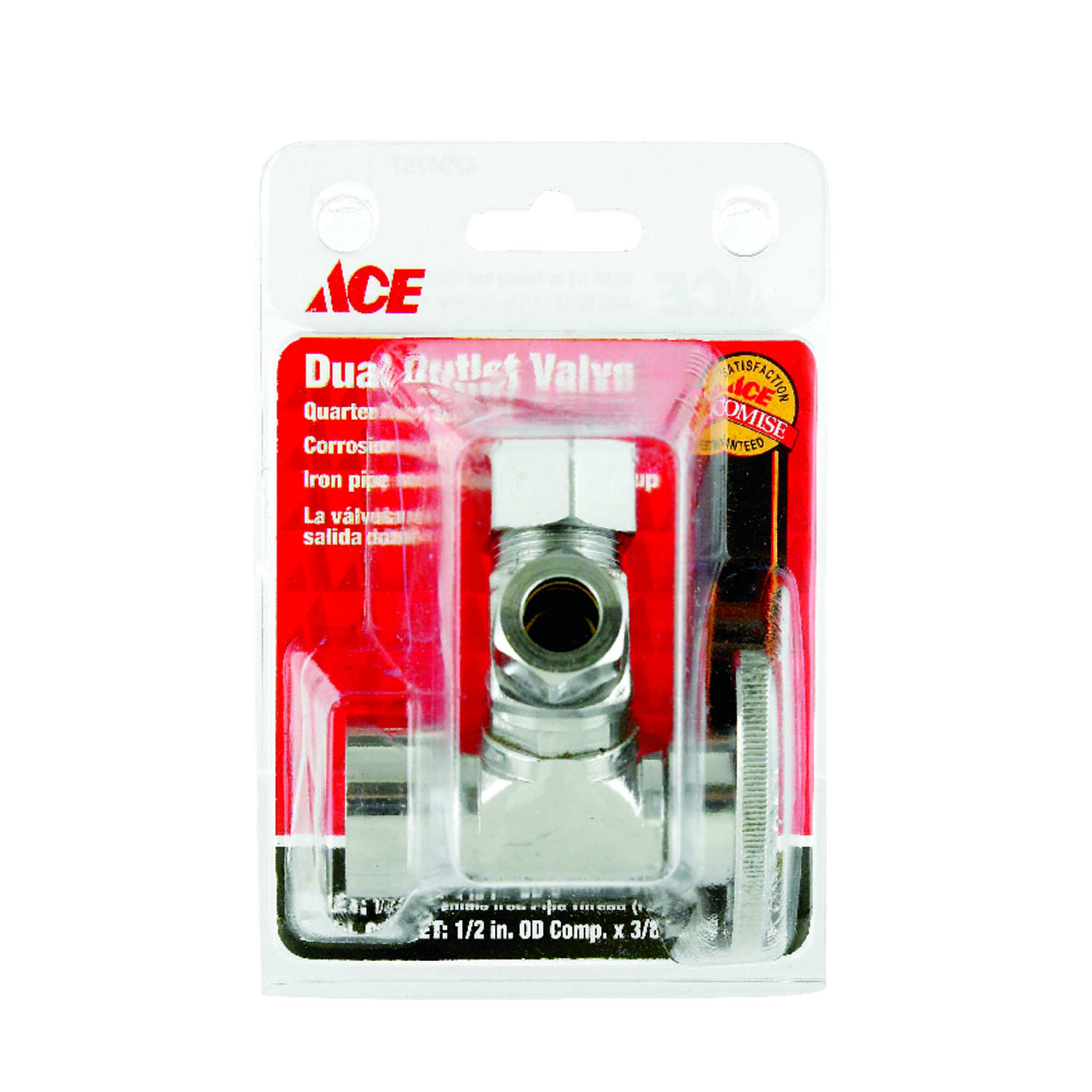 Ace  1/2 in. FPT   x 1/2 in.  FPT  Brass  Dual Shut-Off Valve