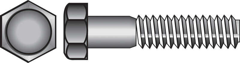Hillman  5/16 in. Dia. x 1-1/4 in. L Zinc Plated  Steel  Hex Bolt  100 pk