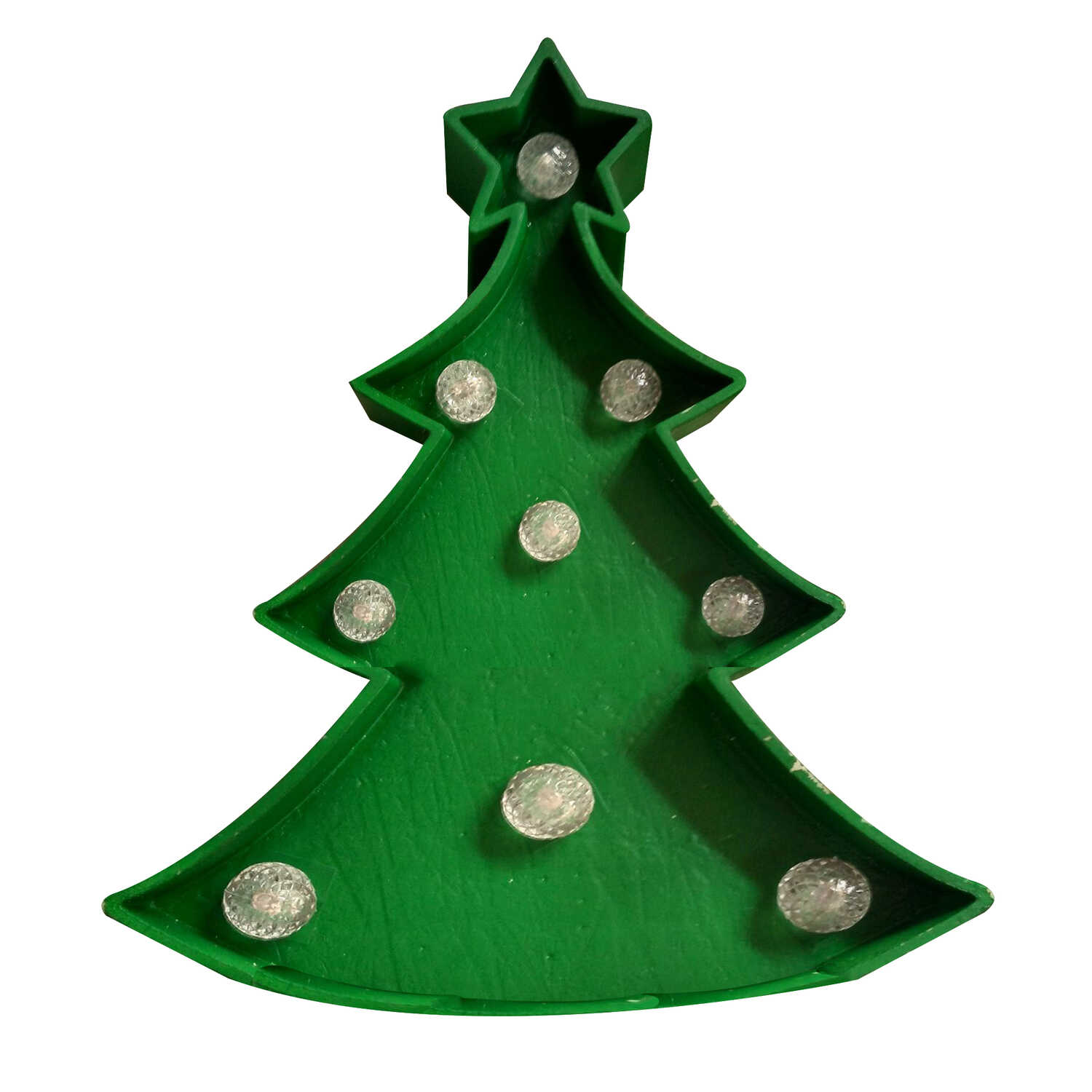 Home Plus  LED Tree  Christmas Decoration  Green  Plastic  1 each