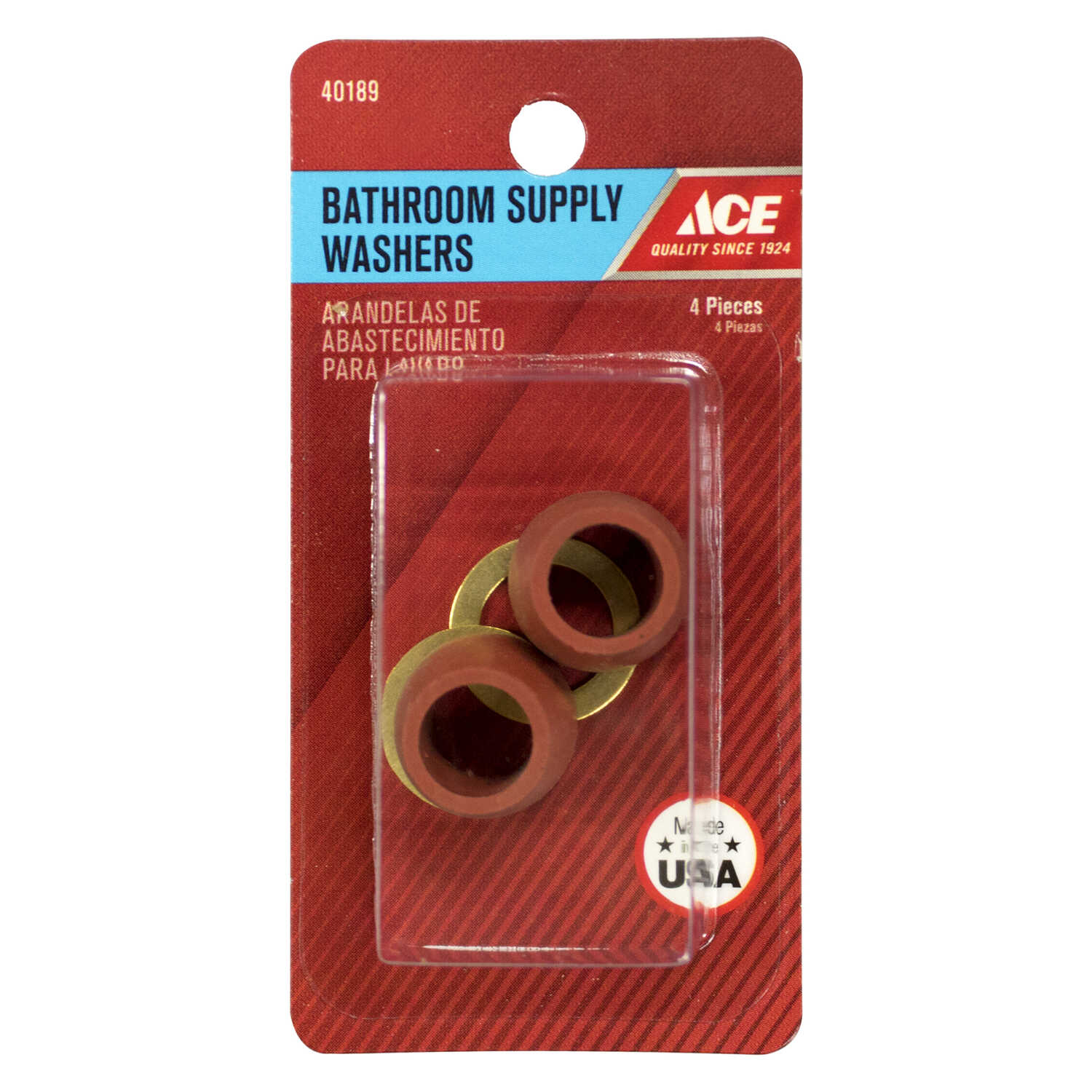 Ace  0.375 in. Dia. Rubber  Slip Joint Washer  2