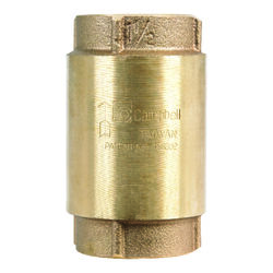 Campbell  1-1/2  Dia. x 1-1/2  Dia. Red Brass  Spring Loaded  Check Valve