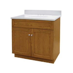 Heartland Vanity and Top Combo 30 in. x 30 in. x 18 in. Oak