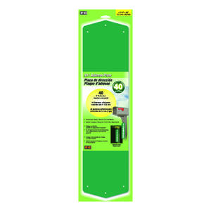 Hy-Ko  Green  Aluminum  Rectangle  Address Kit