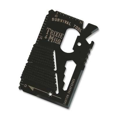 Trixie and Milo  Survival  Wallet Multi-Tool  Black  1 pc.