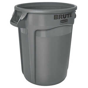 Rubbermaid Commercial  BRUTE  32 gal. Plastic  Brute Refuse Can