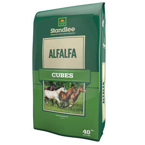 Standlee Premium Western Forage  Alfalfa  Cubes  For Horses 40 lb.
