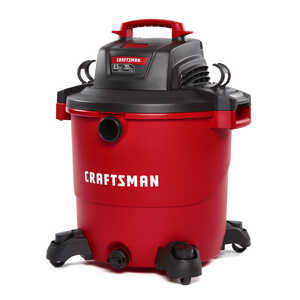Craftsman  20 gal. Corded  6-1/2 hp 12 amps 120 volt Red  Wet/Dry Vacuum  1 pc. 30 lb.