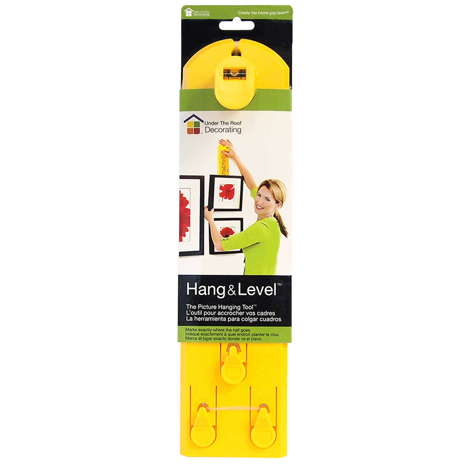Hang and Level  Yellow  Picture Hanger  10 lb. 1 pk Hang and Level