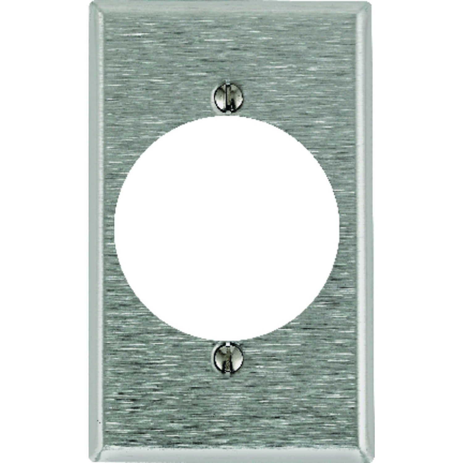 Leviton  Silver  1 gang Stainless Steel  Outlet  Wall Plate  1 pk