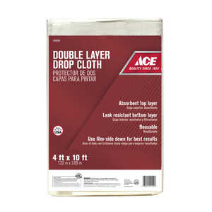 ACE  Heavy Weight  Plastic  Two-Layer Drop Cloth  10 ft. L x 4 ft. W