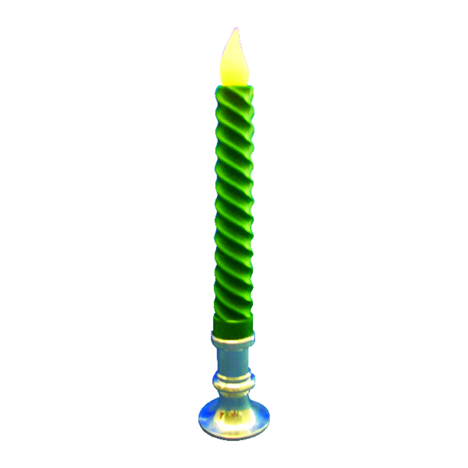 Celebrations  LED  Flameless  Candle  Green  1 lights