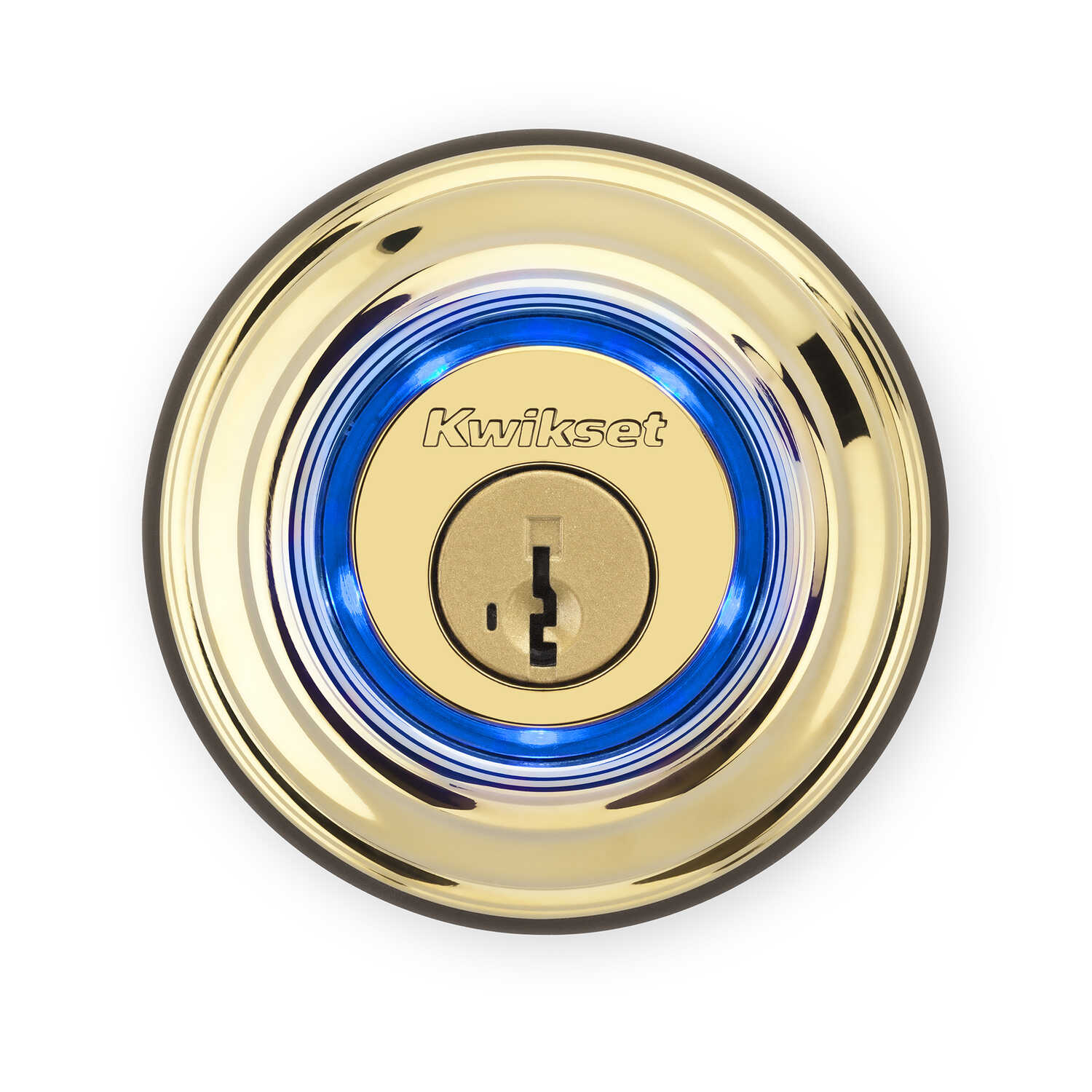 Kwikset  Polished Brass  Metal  Single Cylinder Deadbolt