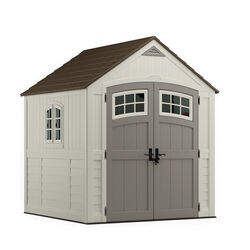 Suncast Cascade 7 ft. W x 7 ft. D Plastic Vertical Storage Shed With Floor Kit