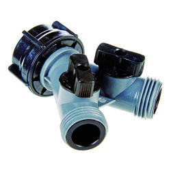 Ace Plastic Threaded Female/Male 2-Way Shut-off Valve