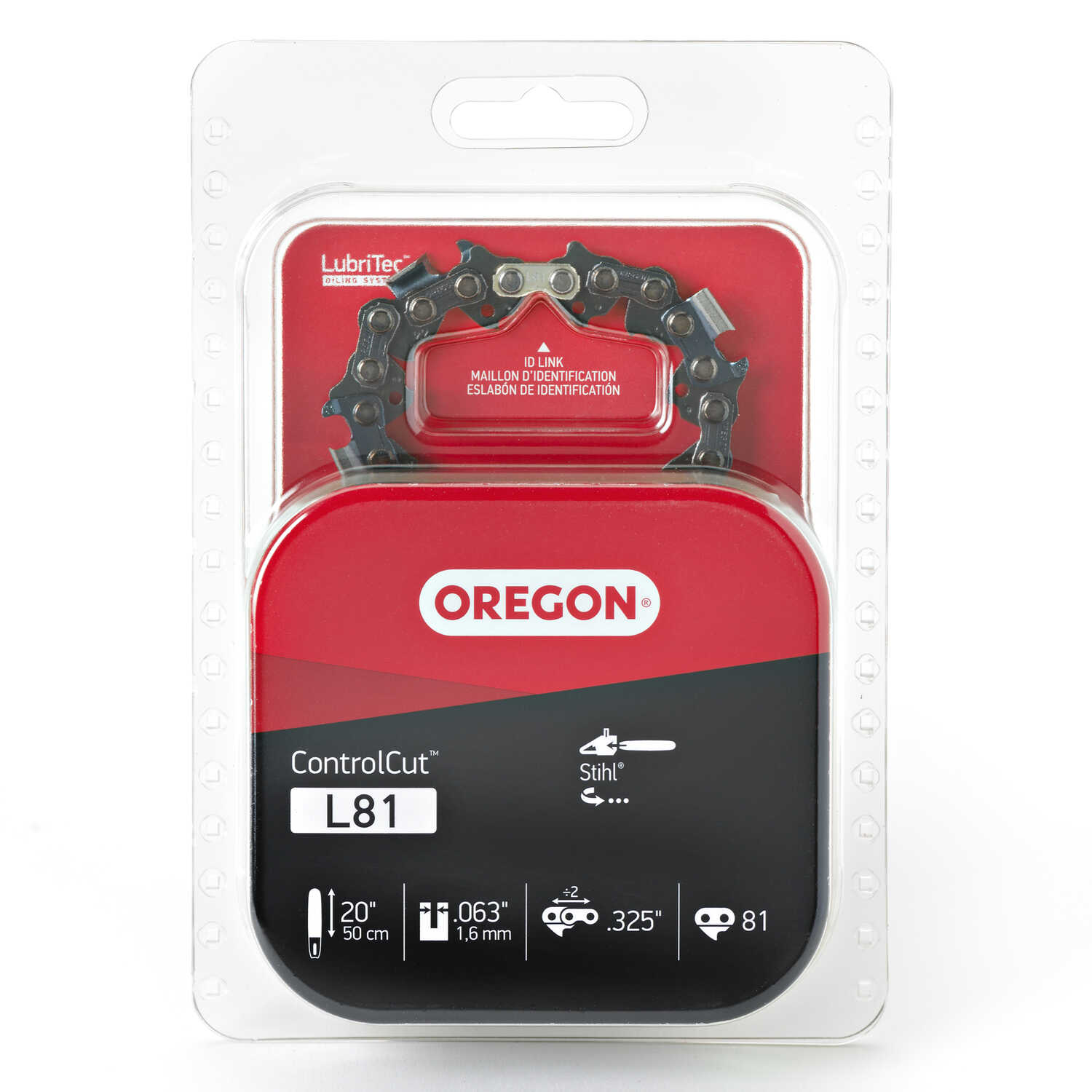 Oregon  Control Cut  20 in. 81 links Chainsaw Chain