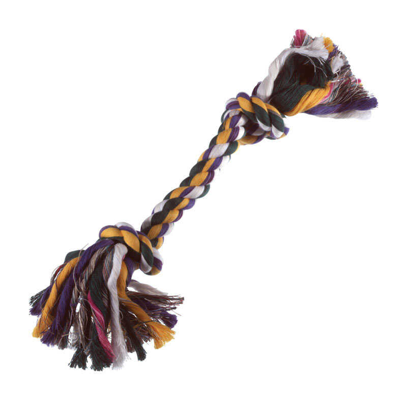 Diggers  Multicolored  Rag Bone  Cotton  Rope Dog Tug Toy  Small